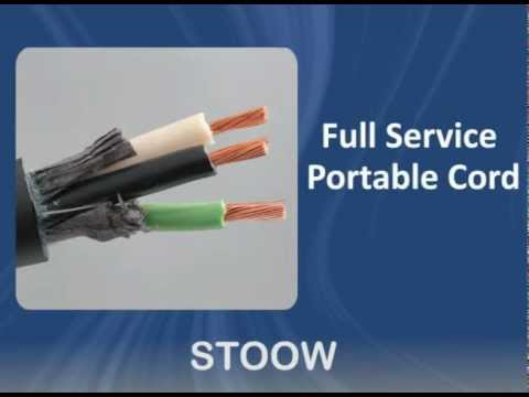 STOOW Cable: Allied Wire & Cable Spotlight on Portable Cord - YouTube