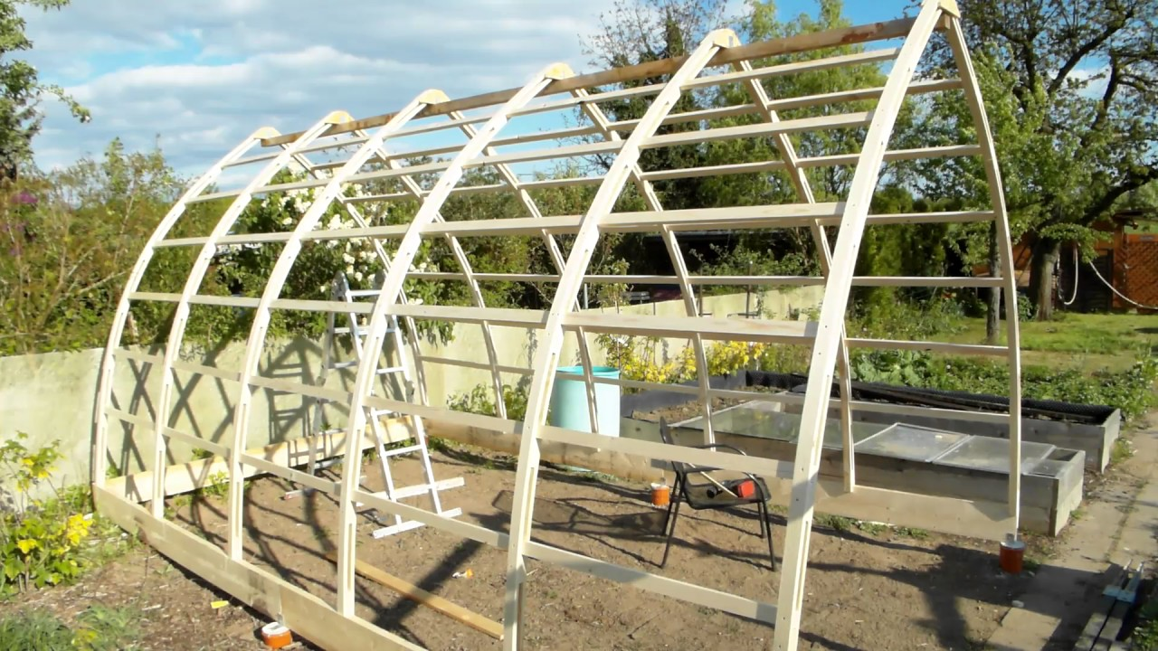 Gothic Arch Greenhouse Sneak