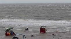 Sturmflut an der Nordsee in Norddeich 22.10.2014