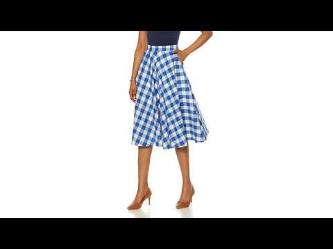 Wendy Williams Gingham Cotton Circle Skirt with Pockets. http://bit.ly/2J6zsef