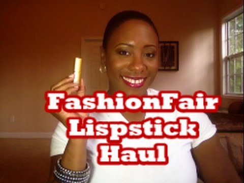 Friday Haul| Fashion Fair Lipstick Haul with Swatches|BusyBeingMom