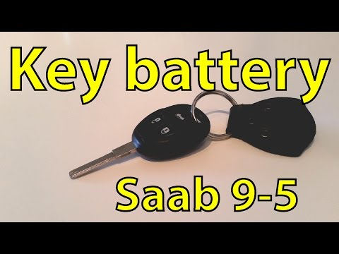 Saab 9-5 DIY: Replacing the Key Remote Battery – Trionic Seven Quick Tip