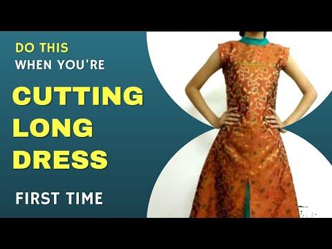 Make Maxi Dress / long Party Frock dress/ maxi gown- center chaak ...