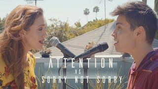 Download Attention vs. Sorry Not Sorry (Charlie Puth/Demi Lovato MASHUP) - Sam Tsui & Alyson Stoner MP3 song and Music Video