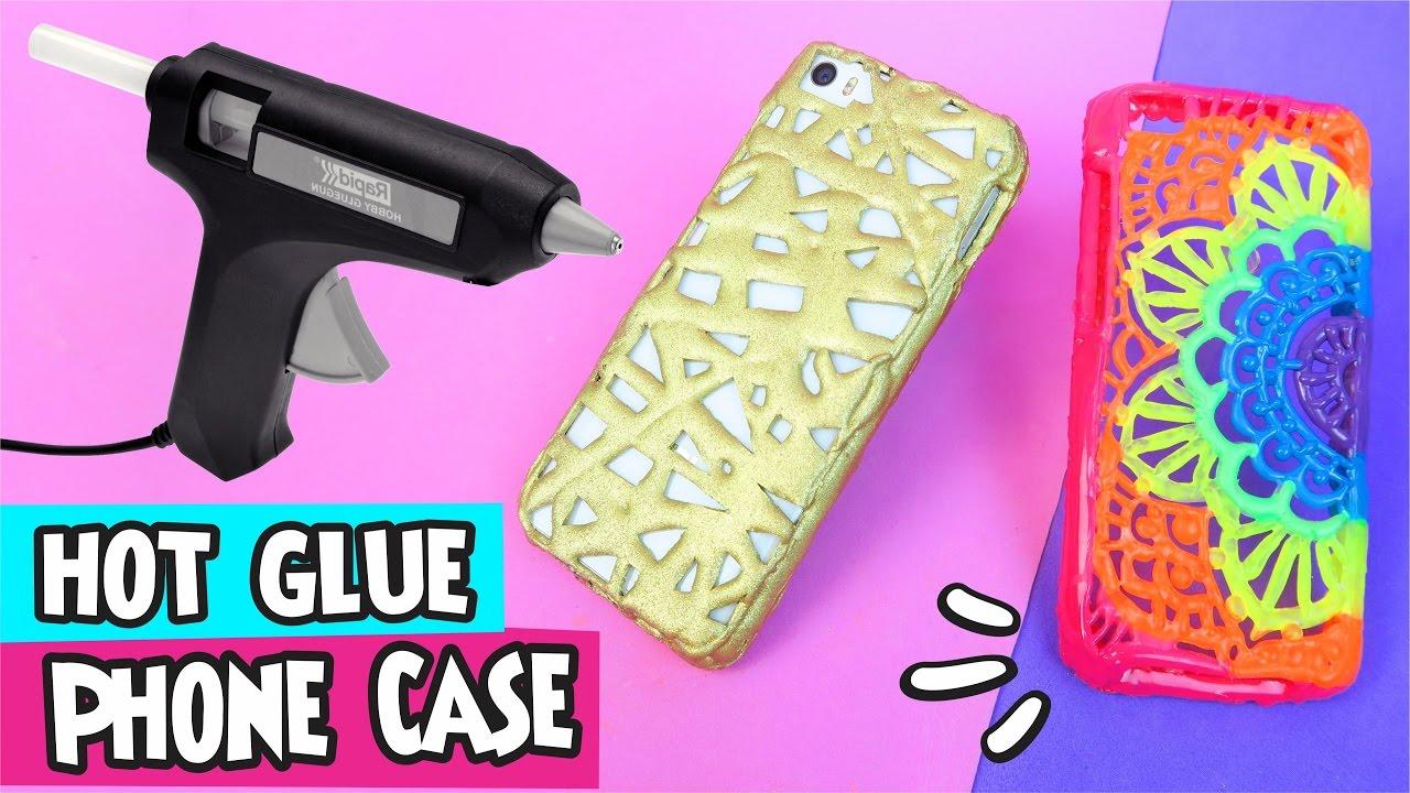 huge discount 1d0e5 313f7 DIY ★ Hot Glue Phone Case ★ Step by Step Easy DIY Crafts