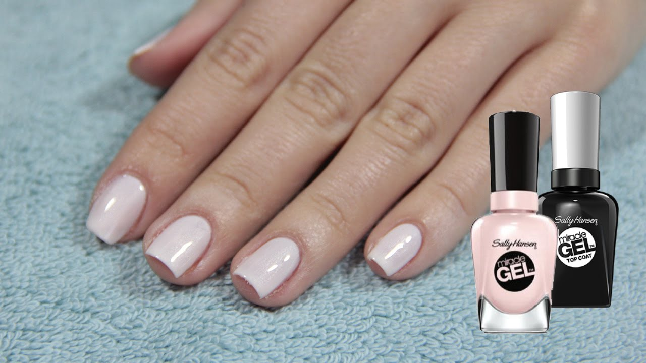 home manicure with gel polish
