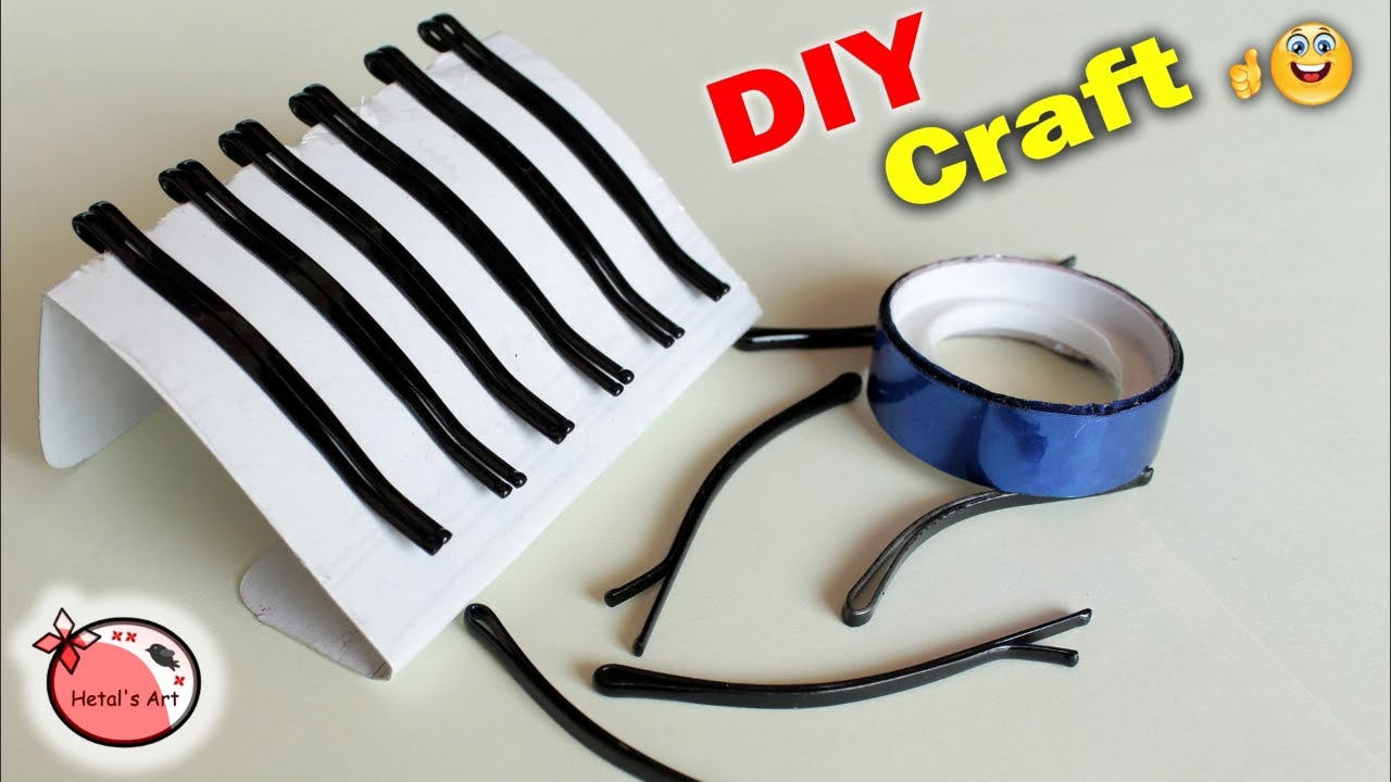 Best Craft Idea Out of Hair Pin | Wall Hanging Craft Idea at Home ...