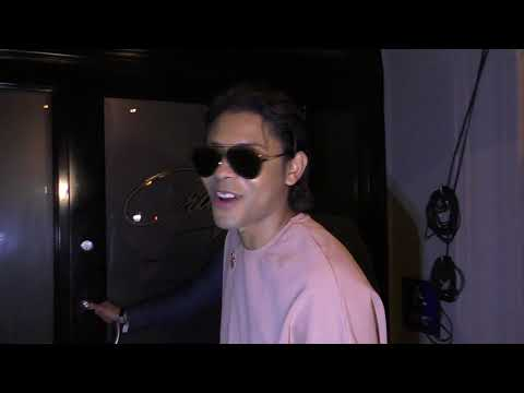 B Howard talks about Paris Jackson's career outside of Craigs Restaurant in West Hollywood