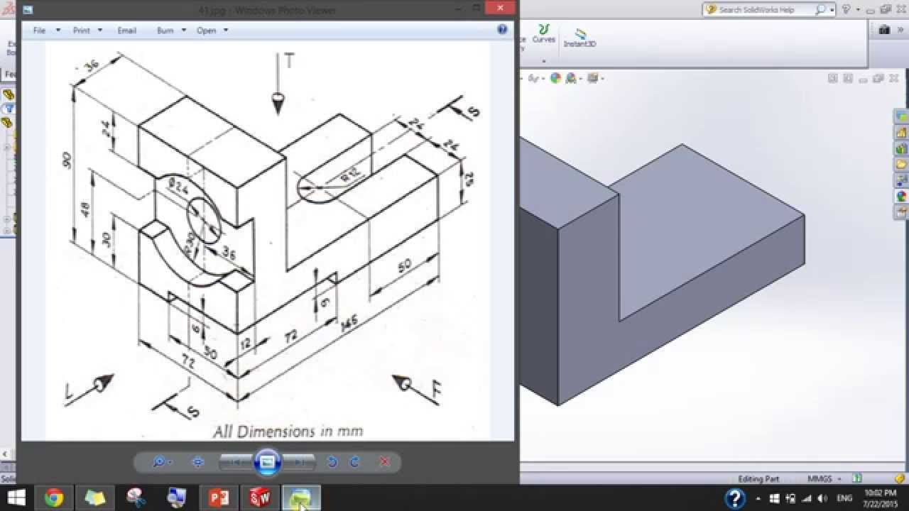 SolidWorks Exercises for Beginners - 1 - YouTube