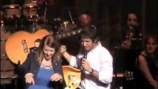 Josh Groban is amazed by Keren Chadwick singing The Prayer & does Q&A - Sydney 24.4.13
