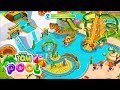 Talking Tom Pool Building Water Kingdom & Dragon Mountain At Once Part 2 |Talking Tom game for Kids