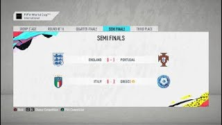 FIFA 20 Career Manager Season D Italy VS Greece World Cup Semi Finals