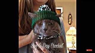 CROCHET How To #Crochet Easy Cat Hat Beanie with Ear Holes TUTORIAL #336