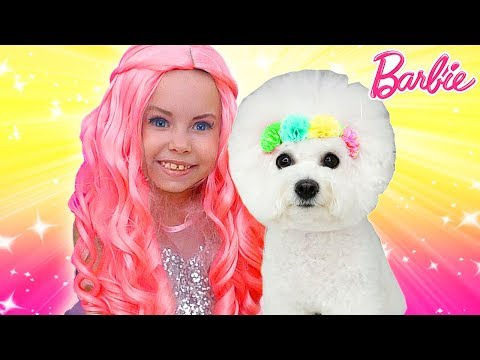 Alice as a Barbie Doll Plays with Puppy in her favorite toys | Compilation by kids smile tv
