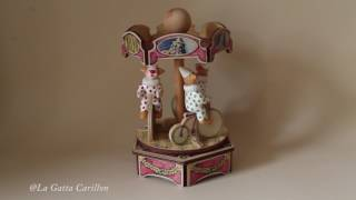 Carillon giostra per bambini, neonati e adulti - Giostra Clown (Melodia: Send in the Clowns)