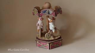 Carillon giostra per bambini, neonati e adulti - Giostra Clown (Melodia: Send in the Clowns)