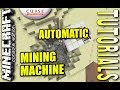 MINECRAFT - PS3 - AUTOMATIC MINING MACHINE - HOW TO - TUTORIAL ( PS4 / XBOX / PC ) WII