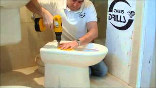 I need to drill a hole into a ceramic toilet cistern sink with diamond core drill bit