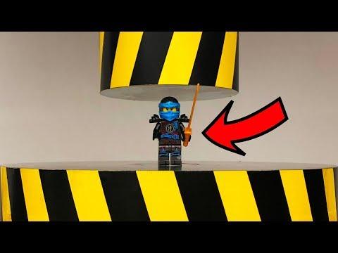 EXPERIMENT HYDRAULIC PRESS 100 TON vs Lego Ninjago