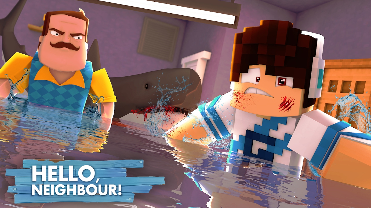 Minecraft: HELLO NEIGHBOR - O ATAQUE DO TUBARÃO!