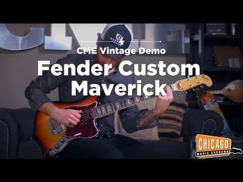 VERY RARE Vintage 1969 Fender Custom Maverick   CME Vintage Gear Demo