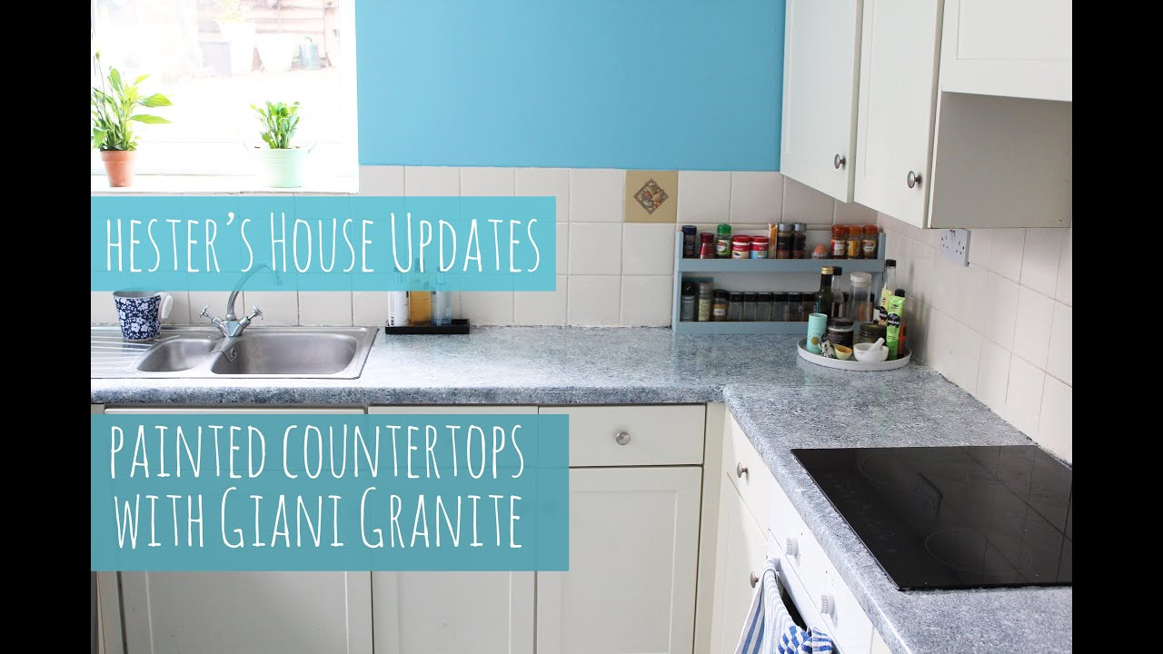 Ugly Granite Countertops Painted Kitchen Counters With Giani Granite Hester S House Updates