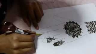 Indian Traditional wedding mehandi design Thumbnail
