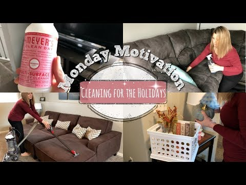 MONDAY MOTIVATION :: CLEANING FOR THE HOLIDAYS :: SPEED CLEAN WITH ME