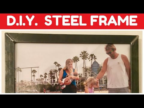 D.I.Y. Industrial Metal Picture Frames - Welding Project - Steel Frame