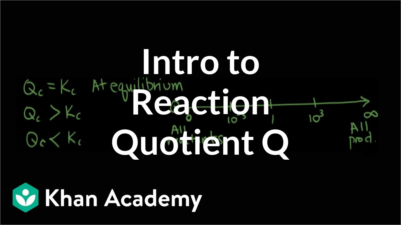Introduction to reaction quotient Qc (video) | Khan Academy