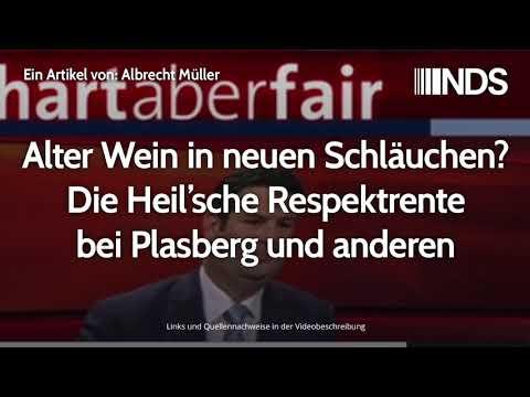 Alter Wein in neuen Schläuchen? Die Heil'sche Respektrente bei Plasberg und anderen | A. Müller