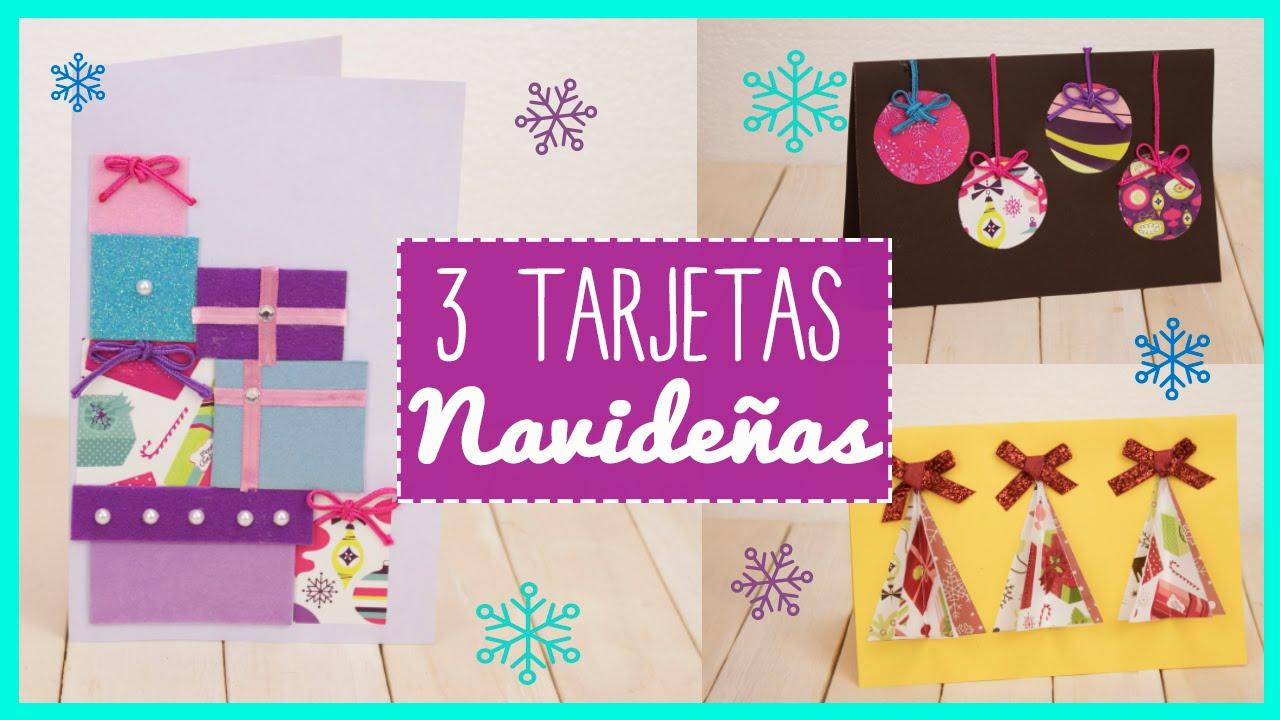 Tarjetas De Navidad 3 Ideas Manualidades Para Regalar En Navidad - Ideas-para-tarjetas-de-navidad