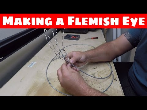 3 different ways to make a Flemish Eye in wire rope