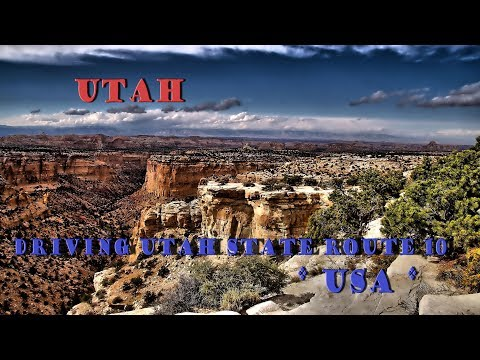 Driving Utah State Route 10 // UT-10, Mountains, Valleys & Canyons // USA
