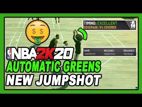 NBA 2K20 NEW AUTOMATIC EASY GREEN CUSTOM JUMPSHOT GAMEPLAY! DENSKI APPROVED!