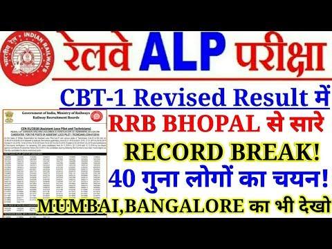 Railway ALP में RRB BHOPAL से सारे RECORD BREAK 40 गुना लोगों का चयन।Competion ज्यादा है।