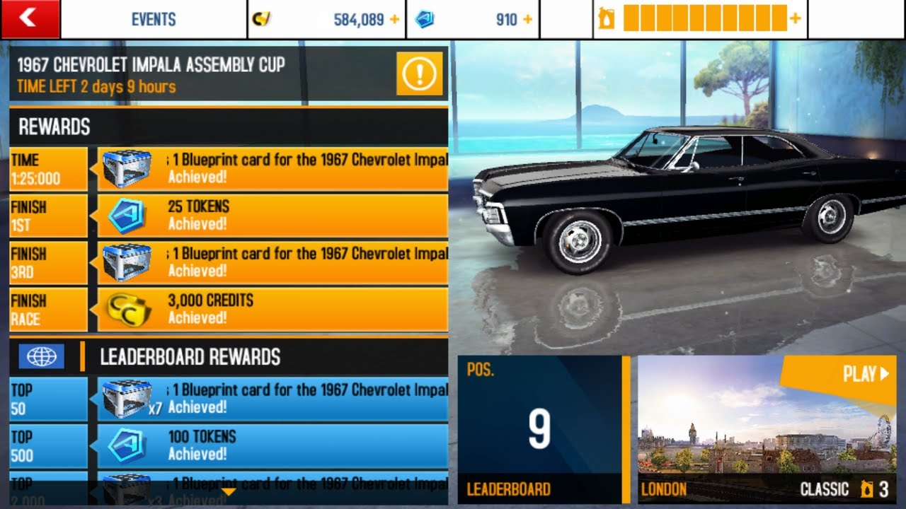 Asphalt 8 1967 Chevrolet Impala Assembly Cup 1 19 101 Youtube
