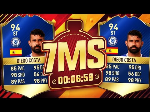 INSANE 94 TOTS DIEGO COSTA 7 MINUTE SQUAD BUILDER!!! - FIFA 17 ULTIMATE TEAM