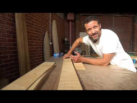 How to build a hollow wooden surfboard part 5