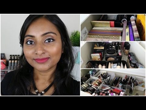 Makeup Collection & Storage 2017 | Thank You for 1000 Subs!!