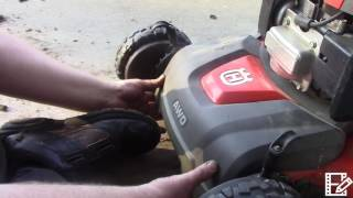 Husqvarna AWD mower belt replacement part 4 of the transmission replacement video series