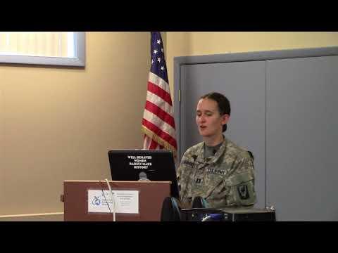 Special Presentation by Capt. Rebecca Sanderson
