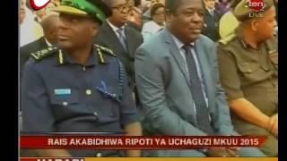 Rais Akabidhiwa Ripoti ya Uchaguzi