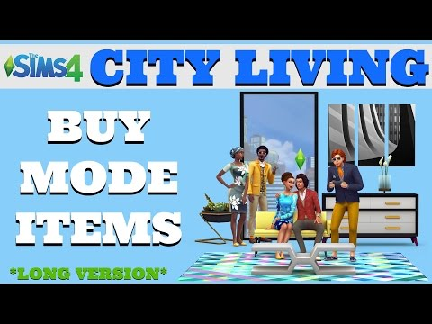 The Sims4 CITY LIVING Expansion Pack - Buy Mode - Overview - Long Version
