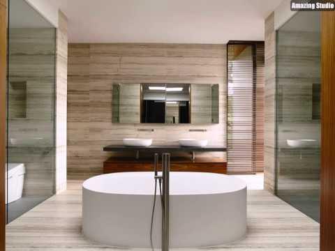 Spa Wie Modernes Bad mit freistehender Badewanne