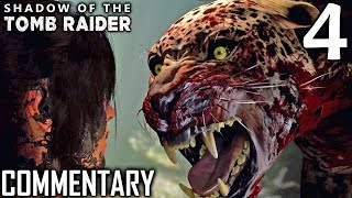 Shadow Of The Tomb Raider Walkthrough Part 4 - Jaguar Attack (PS4 Gameplay)