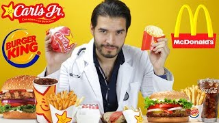 McDonald's V.S. BURGER KING V.S. CARL´S JR | ¿CUÁL ENGORDA MÁS? | DOCTOR VIC