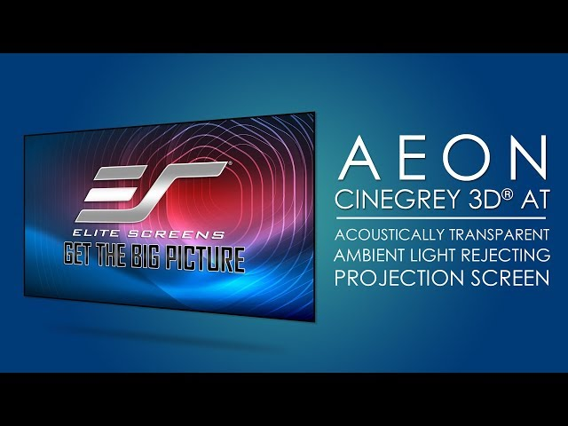 Elite Screens Aeon CineGrey 3D® AT Acoustic Transparent  CLR®/ALR Projection Screen Testimonial