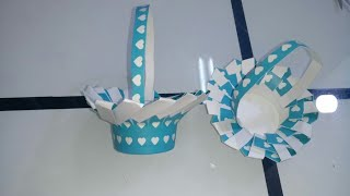 AINA'S CRAFTS WORLD // EASY BASKET FROM PAPER GLASS