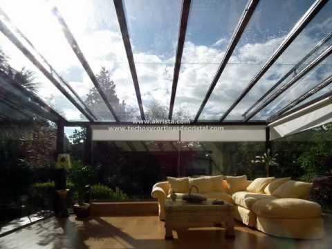 Cortinas de cristal y techos de cristal youtube - Techos para terrazas ...